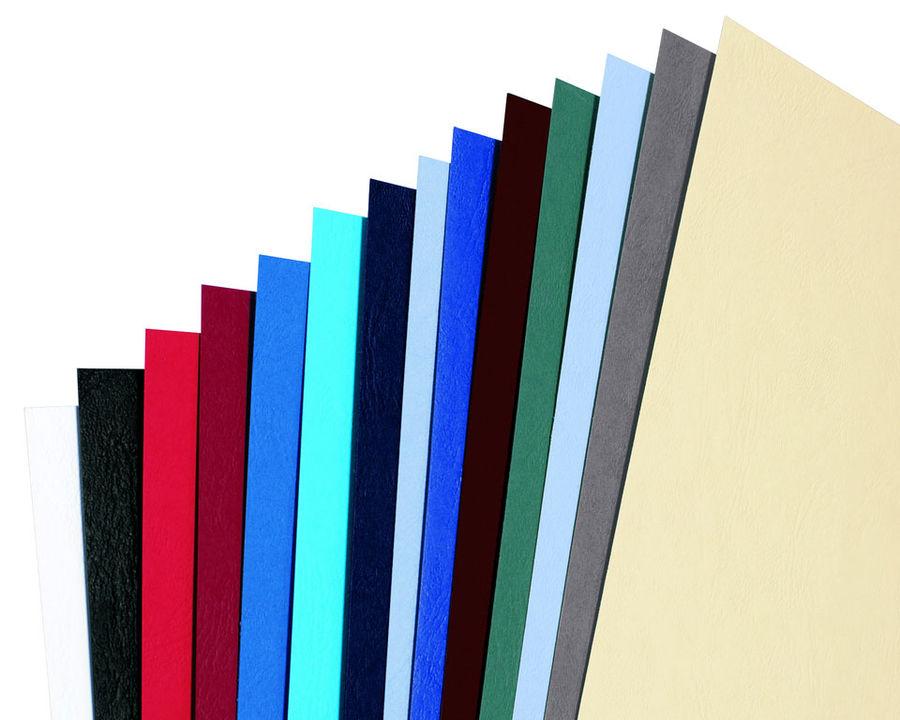 Обложка GBC LeatherGrain,  A4,  250г/м2,  100,  черный