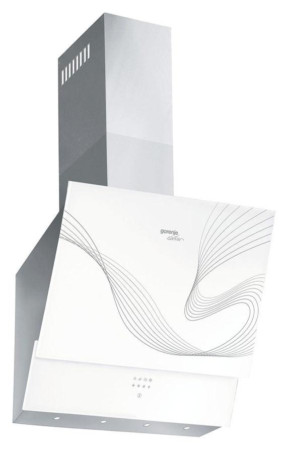 Вытяжка каминная Gorenje DVG6565KR белый/нержавеющая сталь управление: сенсорное (1 мотор)