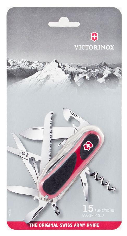 Нож перочинный Victorinox EvoGrip S17 (2.3913.SCB1) 85мм 15функций красный/черный блистер