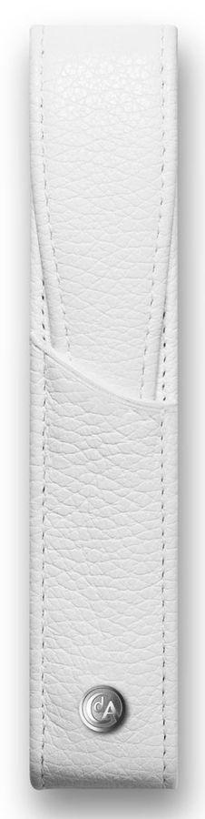 Футляр Carandache Leman (6201.001) для 1 ручки белый натур.кожа