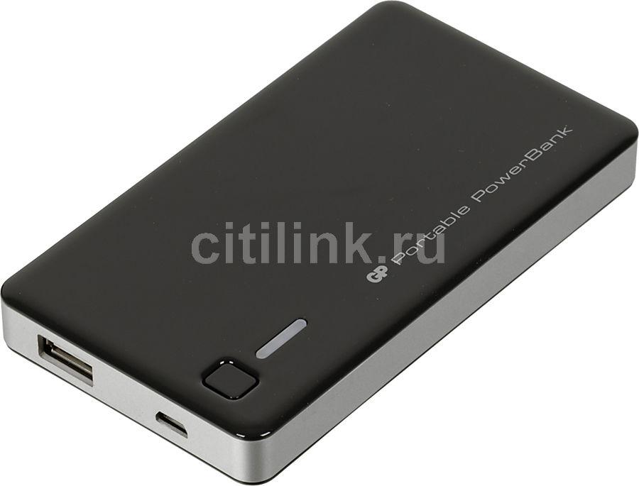 Внешний аккумулятор GP Portable PowerBank GP352BE,  5200мAч,  черный [gp gp352be-2cr1]