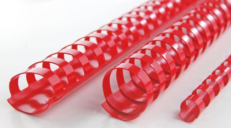 Пружина пластиковая GBC 4028213,  6мм,  25 листов,  A4,  100,  красный