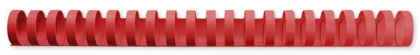 Пружина пластиковая GBC 4028661,  19мм,  165 листов,  A4,  100,  красный