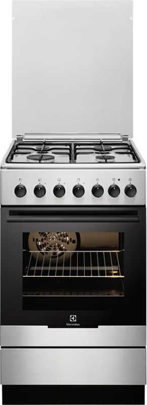 Газовая плита ELECTROLUX EKK951301X,  электрическая духовка,  нержавеющая сталь