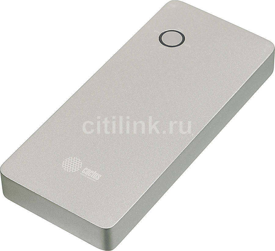Внешний аккумулятор CACTUS CS-PBPT18-18000AL,  18000мAч,  серебристый