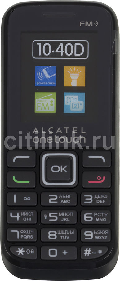 Мобильный телефон ALCATEL OneTouch 1040D  черный