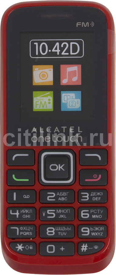Мобильный телефон ALCATEL 1042D  красный