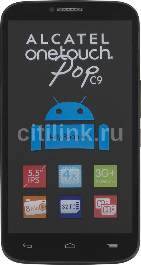 Смартфон ALCATEL Pop C9 7047D  черный