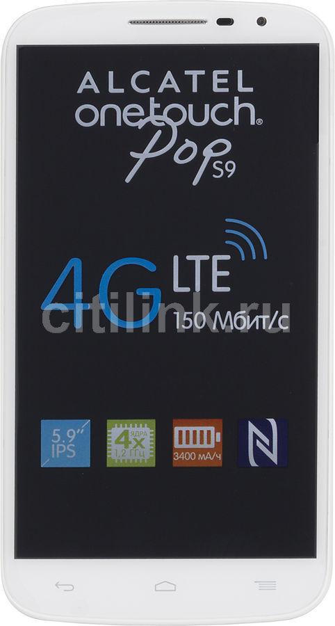 Смартфон ALCATEL Pop S9 7050Y  белый/серый