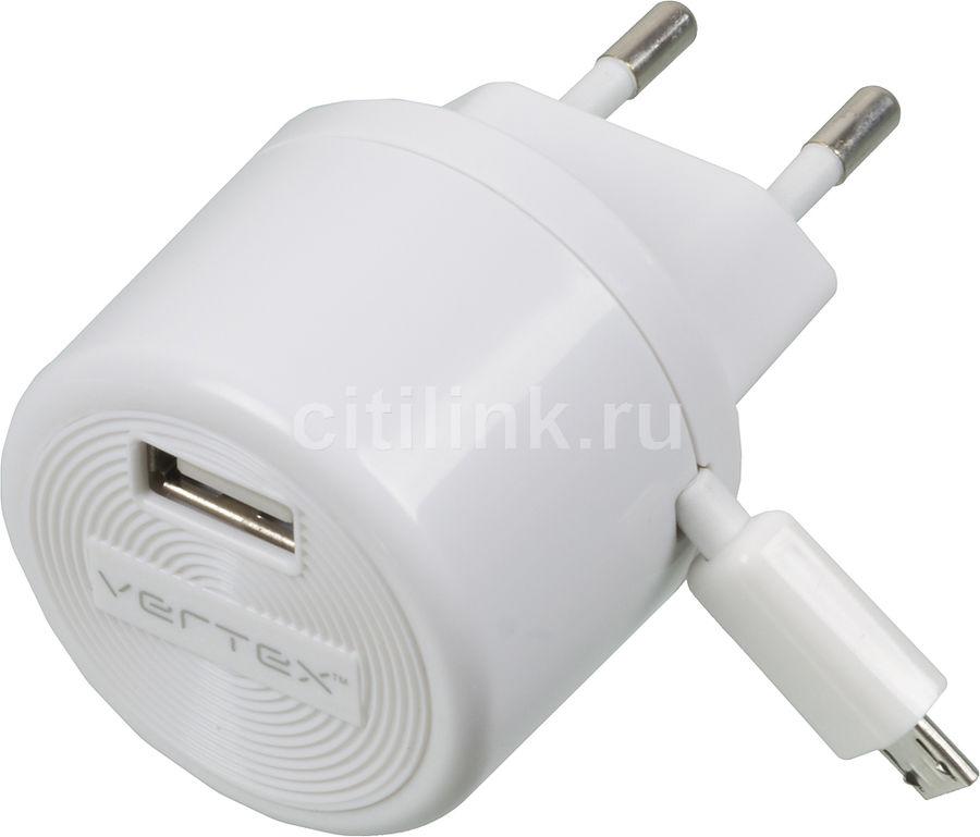 Сетевое зарядное устройство VERTEX TCRSMICROUSBW,  USB,  microUSB,  3.1A,  белый