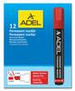 Маркер перманентный Adel 420-1981-030 скошенный пиш. наконечник 1-5мм красный вид 2