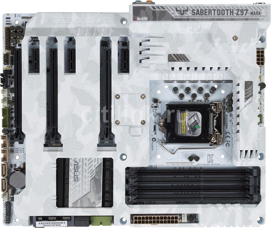 Материнская плата ASUS SABERTOOTH Z97 MARK S LGA 1150, ATX, Ret