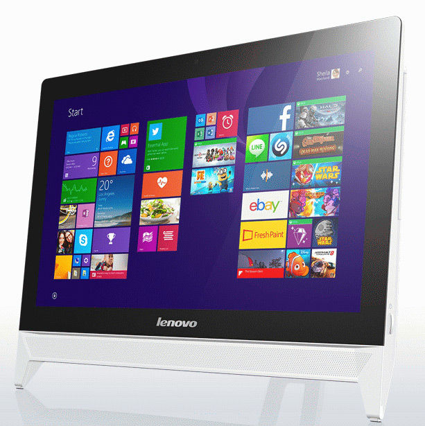 "Моноблок Lenovo c20-05 19.5"" Full HD A6 6310/6Gb/1Tb/DVDRW/W8.1/kb/m/белый 1920x1080 [f0b3001drk]"
