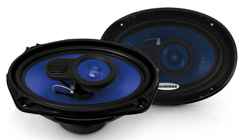 Колонки автомобильные SOUNDMAX SM-CSE693,  коаксиальные,  220Вт,  комплект 2 шт.
