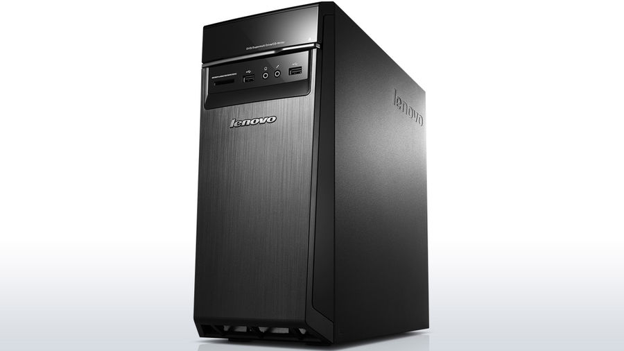 Компьютер  LENOVO H50-00,  Intel  Celeron  J1800,  DDR3 4Гб, 500Гб,  Intel HD Graphics,  CR,  Free DOS,  черный [90c1000krs]