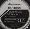 Колонки автомобильные PIONEER TS-G1331I,  широкополосные,  230Вт вид 3