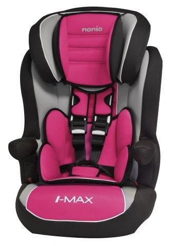Автокресло детское NANIA Imax SP LX (agora framboise), 1/2/3, розовый/черный [923124]