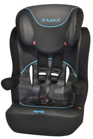 Автокресло детское NANIA I-Max SP (graphic i-tech), 1/2/3, черный/серый [903075]
