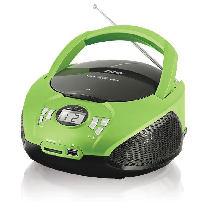 Аудиомагнитола BBK BX105U,  черный и зеленый