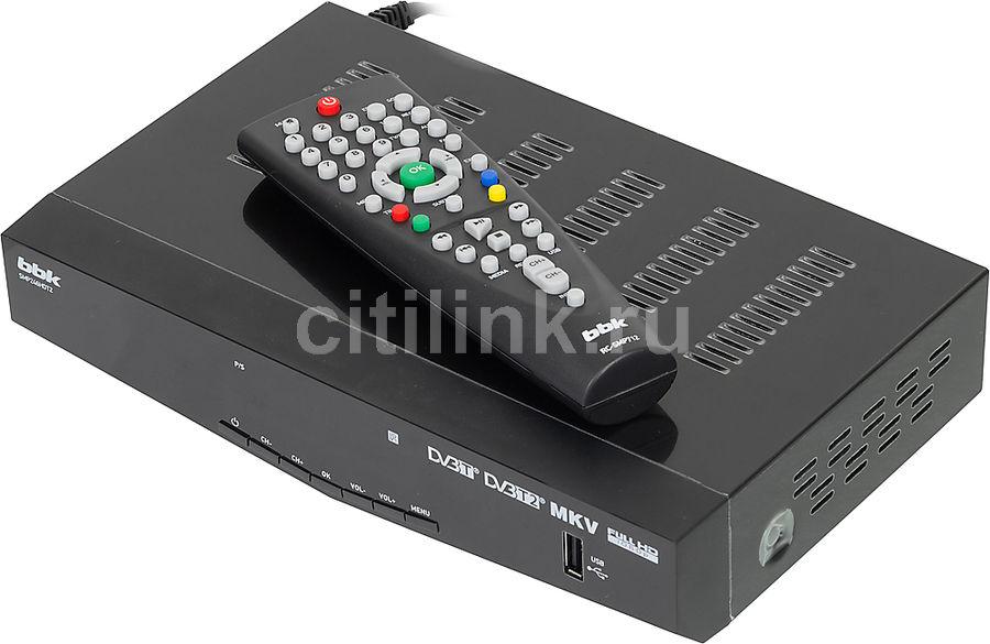 Ресивер DVB-T2 BBK SMP246HDT2,  черный [(dvb-t2) dvb-t smp246hdt2 чер]