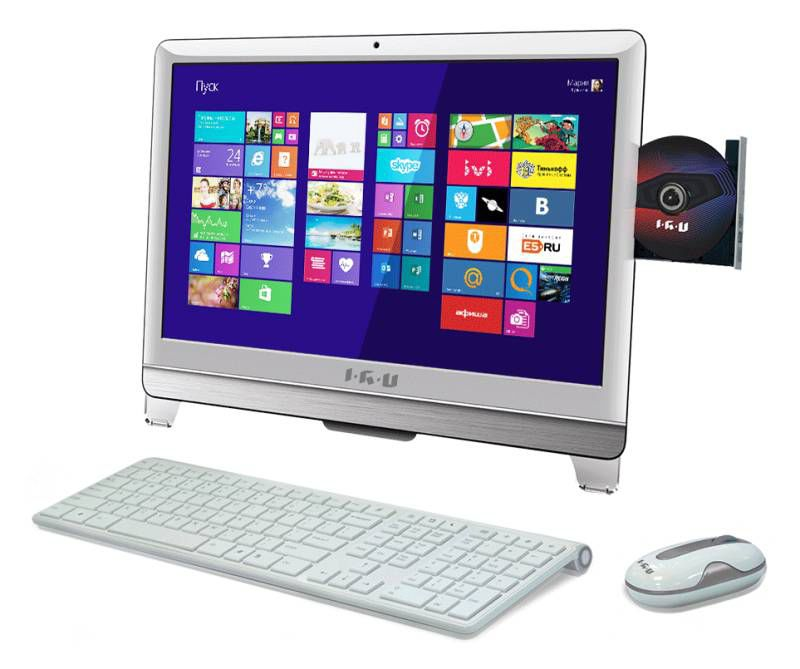 Моноблок IRU T2102 AIO P G2010/4Gb/500Gb/HDG/DVDRW/CR/DOS/белый 21.5