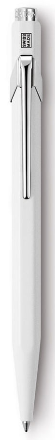Ручка шариковая Carandache Office Popline (849.502) Laquer White M синие чернила подар.кор.