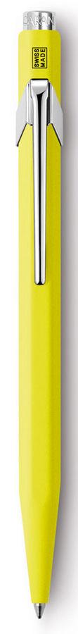Ручка шариковая Carandache Office Popline (849.970) Yellow Fluo M синие чернила подар.кор.