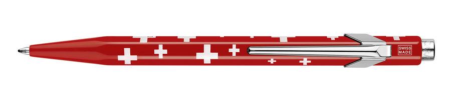 Ручка шариковая Carandache Office Essentially Totally Swiss (849.053) M синие чернила подар.кор.