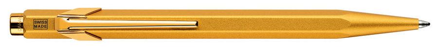 Ручка шариковая Carandache Office Goldbar (849.999) M синие чернила подар.кор.
