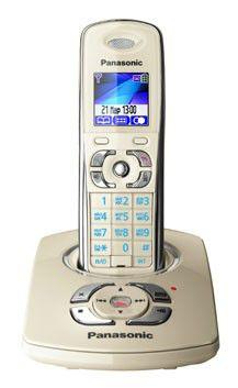 Радиотелефон PANASONIC KX-TG8321RUJ,  бежевый