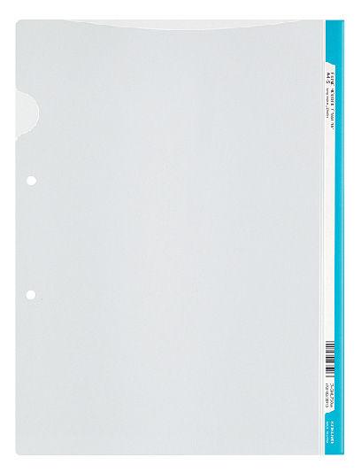 Папка-уголок Kokuyo Colours FU-C750-0-LB A4 пластик 0.2мм боковая перфорация голубой
