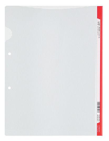 Папка-уголок Kokuyo Colours FU-C750-8-R A4 пластик 0.2мм бок.перф. красный