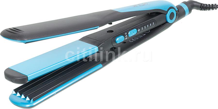 Выпрямитель для волос SINBO SHD 7048,  черный и синий