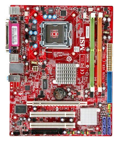 Материнская плата MSI G31M3-F, LGA 775, Intel G31, mATX, Ret