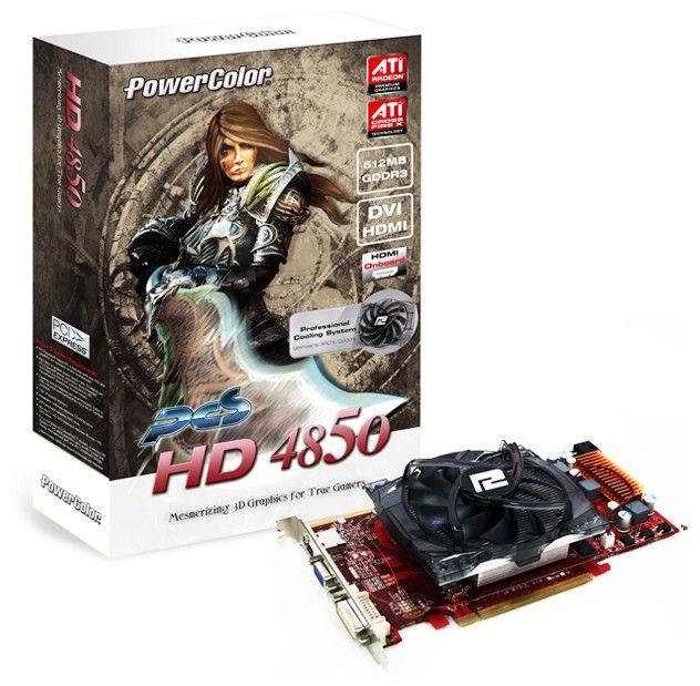 Видеокарта POWERCOLOR Radeon HD 4850,  512Мб, DDR3, Ret [ax4850 512md3-ph]