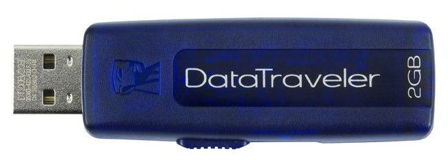 Флешка USB KINGSTON DataTraveler 100 2Гб, USB2.0, синий [dt100в/2gb]
