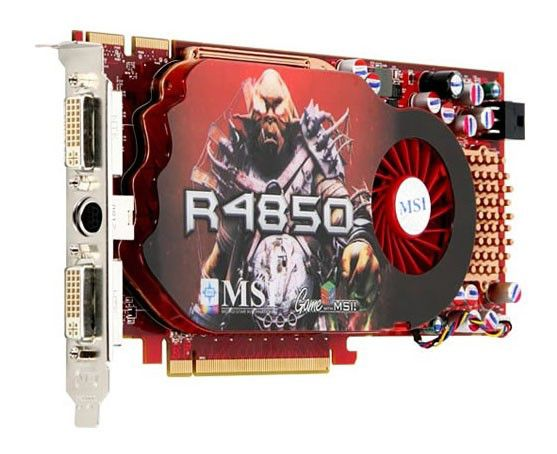 Видеокарта MSI Radeon HD 4850,  512Мб, DDR3, Ret [r4850-2d512-oc]