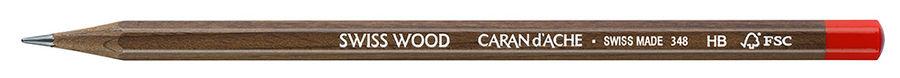 Карандаш чернографит. Carandache Artist Swiss Wood 348.272 HB грифель 2.1мм корпус коричневый