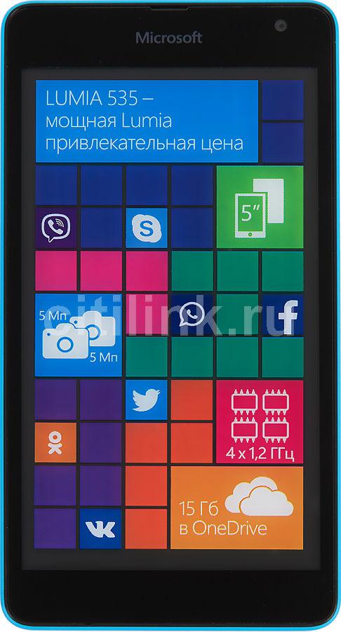 Смартфон MICROSOFT Lumia 535 Dual Sim голубой