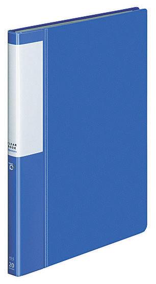 Папка с 20 прозр.вклад. Kokuyo Posity P3RA-L22NB A5 пластик 0.7мм синий