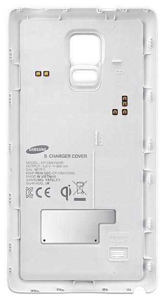 Зарядная крышка SAMSUNG EP-CN915IWRGRU,  0.8A,  белый
