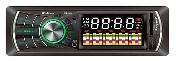 Автомагнитола ROLSEN RCR-203G,  USB,  SD/MMC