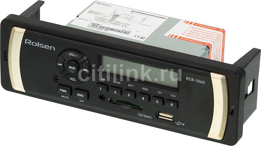 Автомагнитола ROLSEN RCR-104G,  USB,  SD/MMC