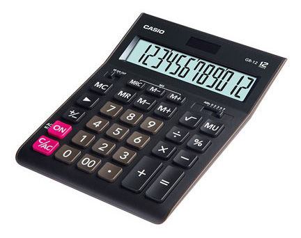 Калькулятор CASIO GR-12,  12-разрядный, черный