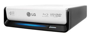 Оптический привод Blu-Ray LG BE06LU10, внешний, USB, белый,  Ret
