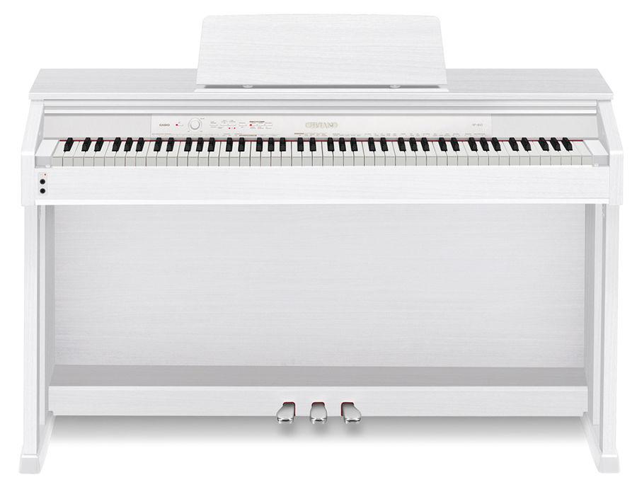Цифровое фортепиано CELVIANO CASIO AP-460WE, 88, полновзвешенная, полноразмерные, 256, белый