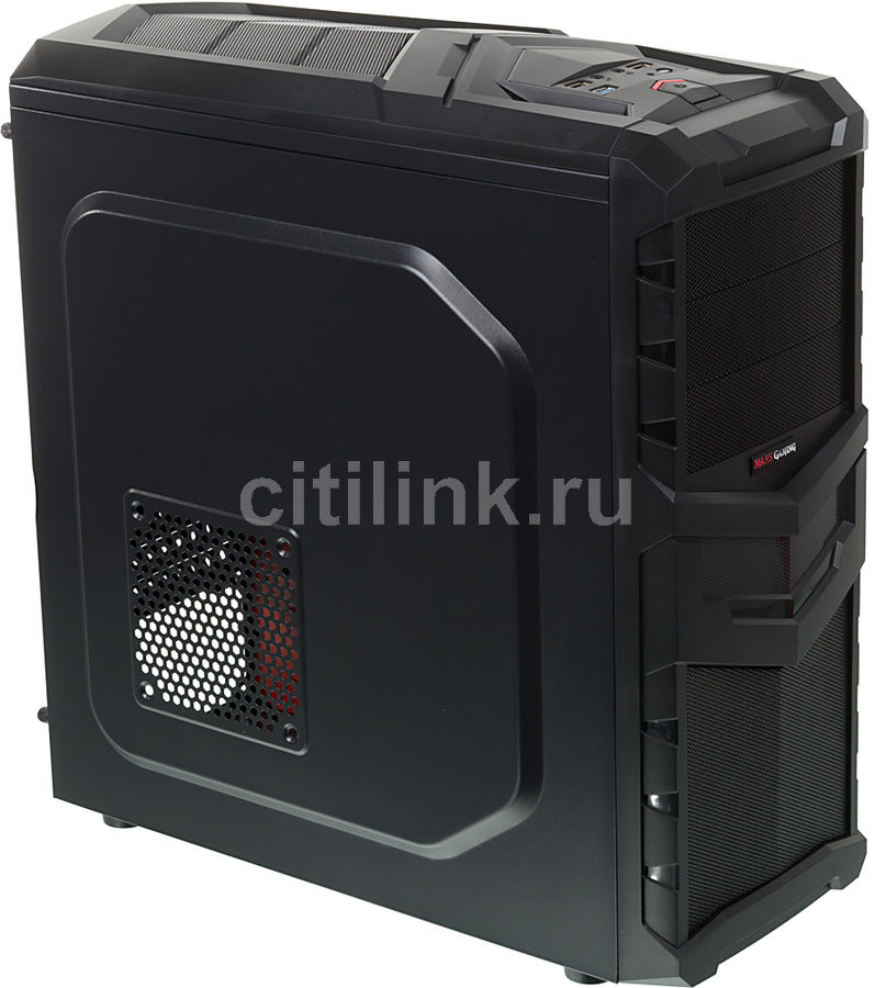 Корпус ATX AEROCOOL MC4, Midi-Tower, без БП, черный