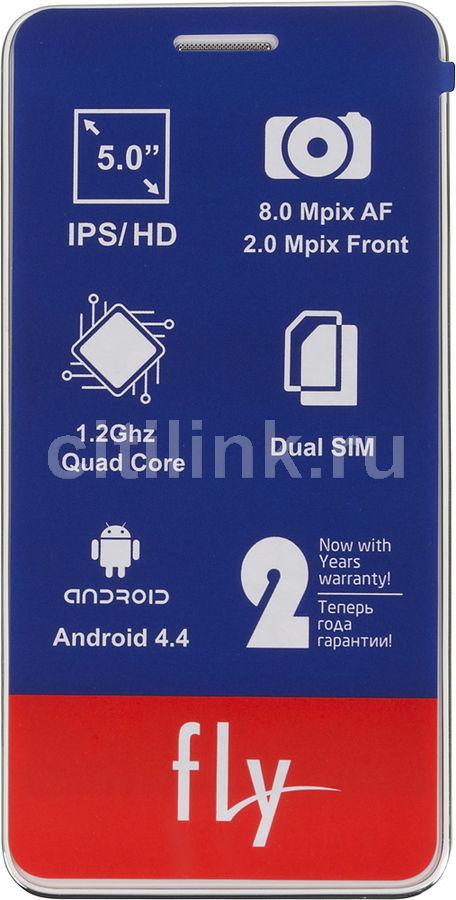 Смартфон FLY Evo Chic 4 Quad IQ4512,  белый
