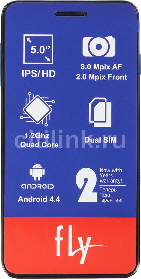 Смартфон FLY Evo Chic 4 Quad IQ4512  синий