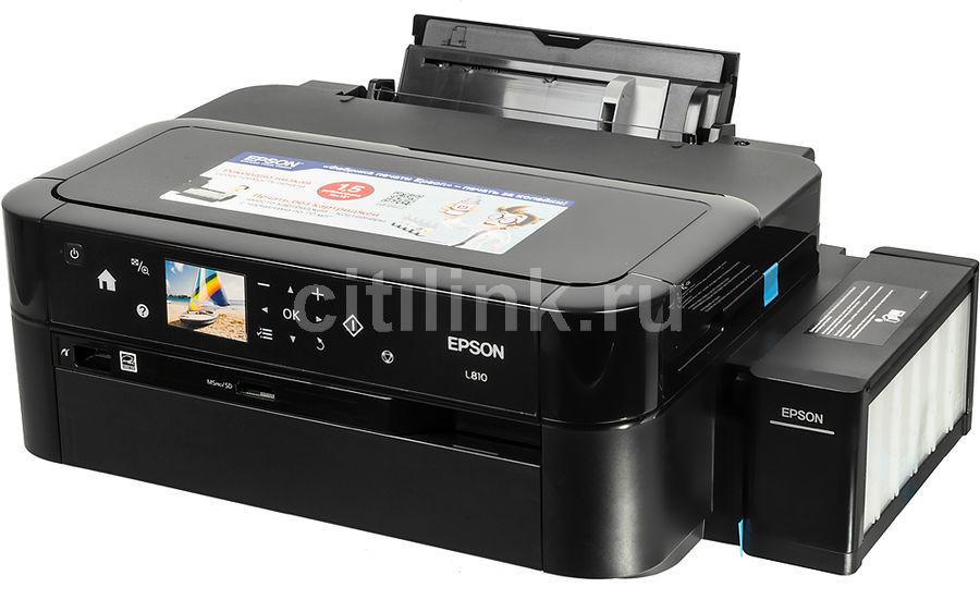Принтер EPSON L810,  струйный, цвет: черный [c11ce32402]